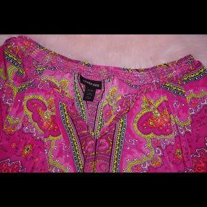 Lane Bryant Tops - Lane bryant medallion print colorful blouse